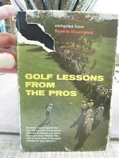 GOLF LESSONS FROM THE PROS Hardcover Book (1961)