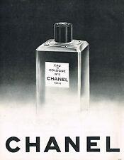 PUBLICITE ADVERTISING 114  1963  CHANEL   eau de Cologne n°5