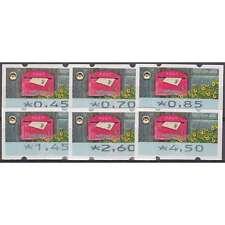 """BRD Bund ATM9 TS1 postfr.** 045/070/085/145/260/450 Cent """"Briefkasten 2017"""" m.Nr"""