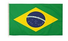 DuraFlag  Brazil 5ft x 3ft Flag with Clips And Hooks