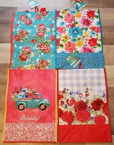 Pioneer Woman Reusable Tote Bag Set Truck Classic Charm Breezy Vintage Floral