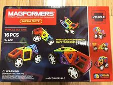 Magformers Wow Vehicles Set Line - Vehicles - 16 Piece 63094 NEW AUTHENTIC