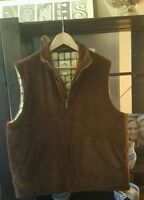 Men's BROOKS BROTHERS Brown Quilt Lined Corduroy Vest Size M