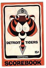1965 Detroit Tigers Unscored Home Program vs. Chicago White Sox EX