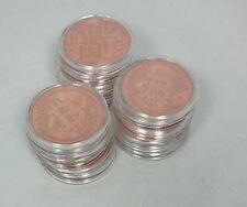 10 Stück Bitcoin Bitcoins Münzen Medaillien 999 Kupfer in Kapsel NEU Prägefrisch