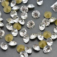 Crystal Clear Rhinestones Point back Glass Strass Strass Glass Nail Art Chatons