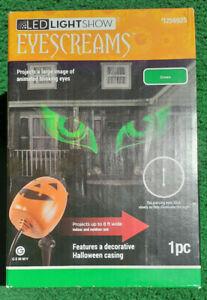 Gemmy EyeScreams Twinkling Green LED Multi-Design Halloween Indoor/Outdoor Light