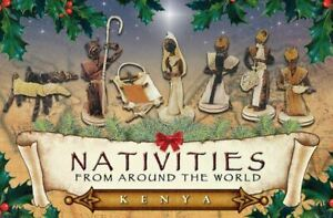 8 Piece Hand Crafted Kenyan Christmas Nativity Scene Set Made in Kenya Décor New