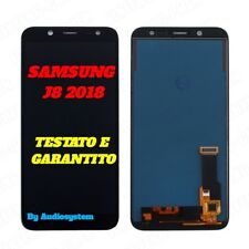 DISPLAY LCD+TOUCH SCREEN per SAMSUNG GALAXY J8 2018 SM-J800Y J800F NERO VETRO