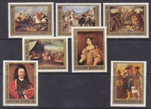 Hungary 2411-17 MNH 1976 Paintings Complete Set of 7 Very Fine