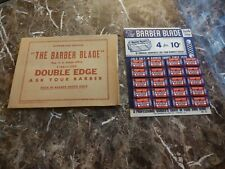 Antique Store Display The Barber Blade New Old Stock Unpunched