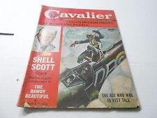 (ABC) APRIL 1961 CAVALIER mens adventure magazine 10 FOOT TALL PILOT