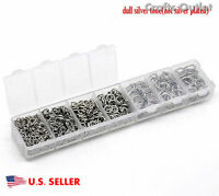Wholesale Box Mixed Stainless Steel Open Jump Rings Jewelry Findings Dia JO