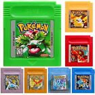 Pokemon Game Cards Yellow Silver Blue Crystal Green Red Gold Version Xmas Gifts