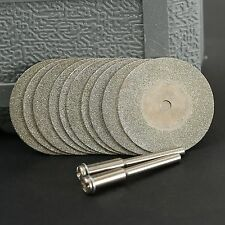 10Pcs Diamond Cut Off Discs Wheel Blades Set for Power Drill Craft Rotary Tool