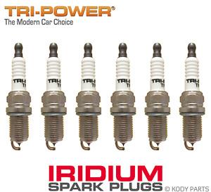 IRIDIUM SPARK PLUGS - for Jeep Cherokee 4WD 3.7L V6 KK (EKG) TRI-POWER