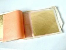 OLD STOCK - GUARANTEED ENGLISH BEATEN GOLD LEAF Book - 20 SHEETS   - E