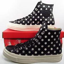 Converse Chuck Taylor 70 Hi Sneaker Black Leather Polka Dots 155459C 9 Men