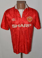 MANCHESTER UNITED 1992/1993/1994 HOME FOOTBALL SHIRT JERSEY UMBRO SIZE M ADULT
