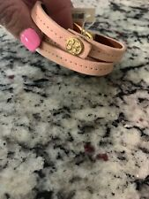 Tory Burch Plato Wrap Bracelet Light Pink Yellow Gold Nwt
