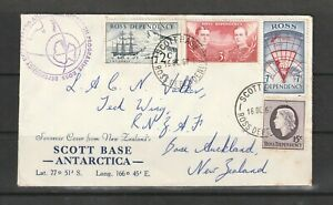 Ross Dependency 1967 Cover with Decimal set, Scott base cds, with Antarctic cach