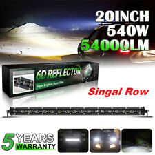 Ultra-thin 20inch 540W LED Work Light Bar Spot Flood Combo Truck Singal Row 22""