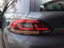 Rückleuchten für VW Scirocco 3 LED Lightbar schwarz mit LED Blinker Rücklichter