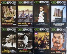 8 x GEO EPOCHE / Sammlung / 8 x DVD / guter Zustand / ohne Zeitschriften