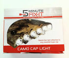 Camo Cap Hat Light Hands Free 6 individual LED lights Camouflage NEW Adjustable