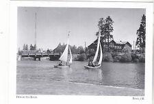 "*Postcard-""2 Boats Sail-Deschutes River""( & Radio KBND Tower) *Bend Oregon (#105"