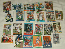 Lot of 25 Denver Broncos Football Trading Cards - assorted players & years