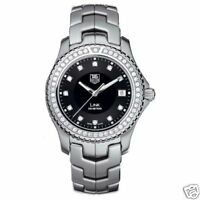SAVE TAG HEUER LINK WJ1117.BA0575 DIAMOND DIAL AND BEZEL BLACK QUARTZ SS WATCH