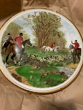 Jf Herring The Famous Herring Hunting Scenes Plate by Royal Worcester