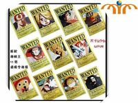 One Piece Set 11 Posters papel Wanted Se busca SHIPS WORLDWIDE 42x29cm lote lot