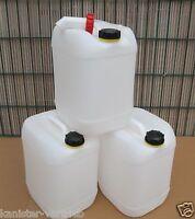 3 x 20 Liter Kanister Camping Trinkwasserkanister Getränkekanister Ausgießer Big