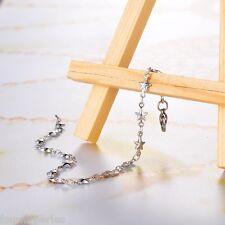 1 PC Bracelet Chaîne étoile Motif Acier Inoxydable Accessoires 20cmx5mm
