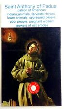 Saint Anthony of Padua relic card patron of lost articles; lower animals