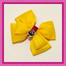 Handmade Large Belle Inspired Beauty Beast Princess Hair Bow Clip Cosplay