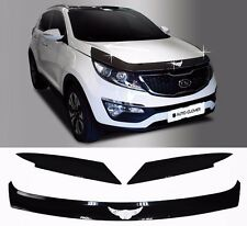 Acrylic Emblem Hood Guard Protector Cover 3pcs For KIA Sportage 2011 2015