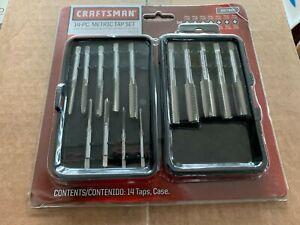 Craftsman Tap Set Metric 14 Pcs Metric Sizes Rust Resistant Carbon Steel