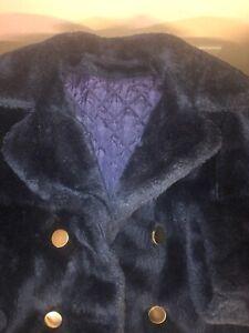 Women's Sears Fashions Vintage 60's Winter Blue Pile Coat Sz L