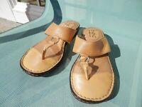B O C Yellow Mango Regan Thong Slip On Sandals - 7 M/W