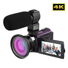 ANDOER 3'' 4K 1080P 48MP WIFI DIGITAL VIDEO 16X ZOOM 64GB DSLR CAMERA +MIC+ BAG