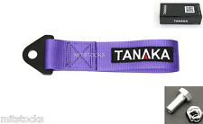 1 TANAKA UNIVERSAL PURPLE RACING SPORTS TOW STRAP TOW HOOK 8000 LBS NEW