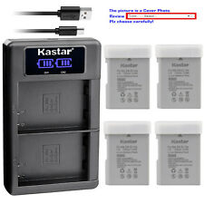 Kastar Battery LCD Dual Charger for Nikon EN-EL14a Battery & MH-24a MH24 Charger