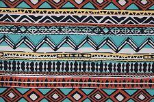 Multi Ethnic Techno Print #41 Double Knit Fabric Stretch Poly Lycra Spandex BTY