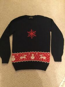 Stunning Christmas Jumper Sweater Shop Navy Blue XS Worn Once Cost £16