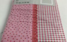 "Ikea ROSALI Prickig Gingham Pots Pink  Euro Pillowcase Pillow Sham 26 x 26"" NEW"