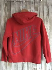 Nike Junior AW77 Exploded Logo Full Zip Active Hoodie Sweater XL Blue Coral *