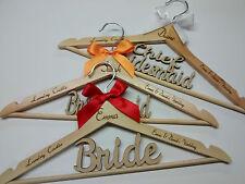 Personalised Wedding Coat Dress Hanger Bride Bridesmaid  - Bridal Party Gift